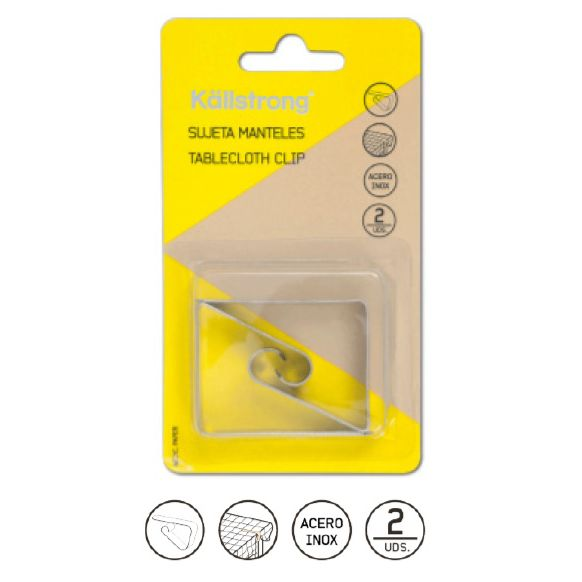 BLISTER (2) PINZA SUJETACABLES INOX S01001I